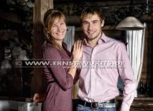 Anastasiya Kuzmina and Anton Shipulin - Biathlon-Kalender Fotoshooting