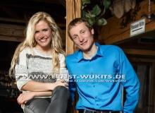 Gabriela Soukalova and Ondrej Moravec - Biathlon-Kalender Fotoshooting