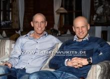 Björn Ferry and Carl Johan Bergman - Biathlon-Kalender Fotoshooting