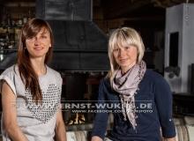 Monika Hojnisz and Krystyna Palka - Biathlon-Kalender Fotoshooting