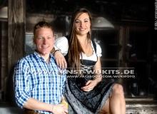Luki Hofer and Dorothea Wierer - Biathlon-Kalender Fotoshooting