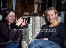 Olga Vilukhina and Olga Zaitseva - Biathlon-Kalender Fotoshooting