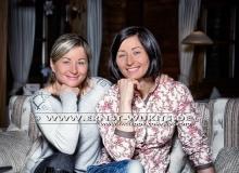 Vita and Valj Semerenko - Biathlon-Kalender Fotoshooting