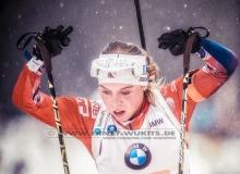 Elise RINGEN (NOR) - IBU BIATHLON WC RUHPOLDING - 4x6 km Staffel Frauen
