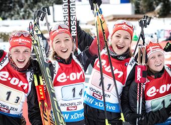 13.12.2014: BIATHLON  - 4x6 km Staffel Frauen